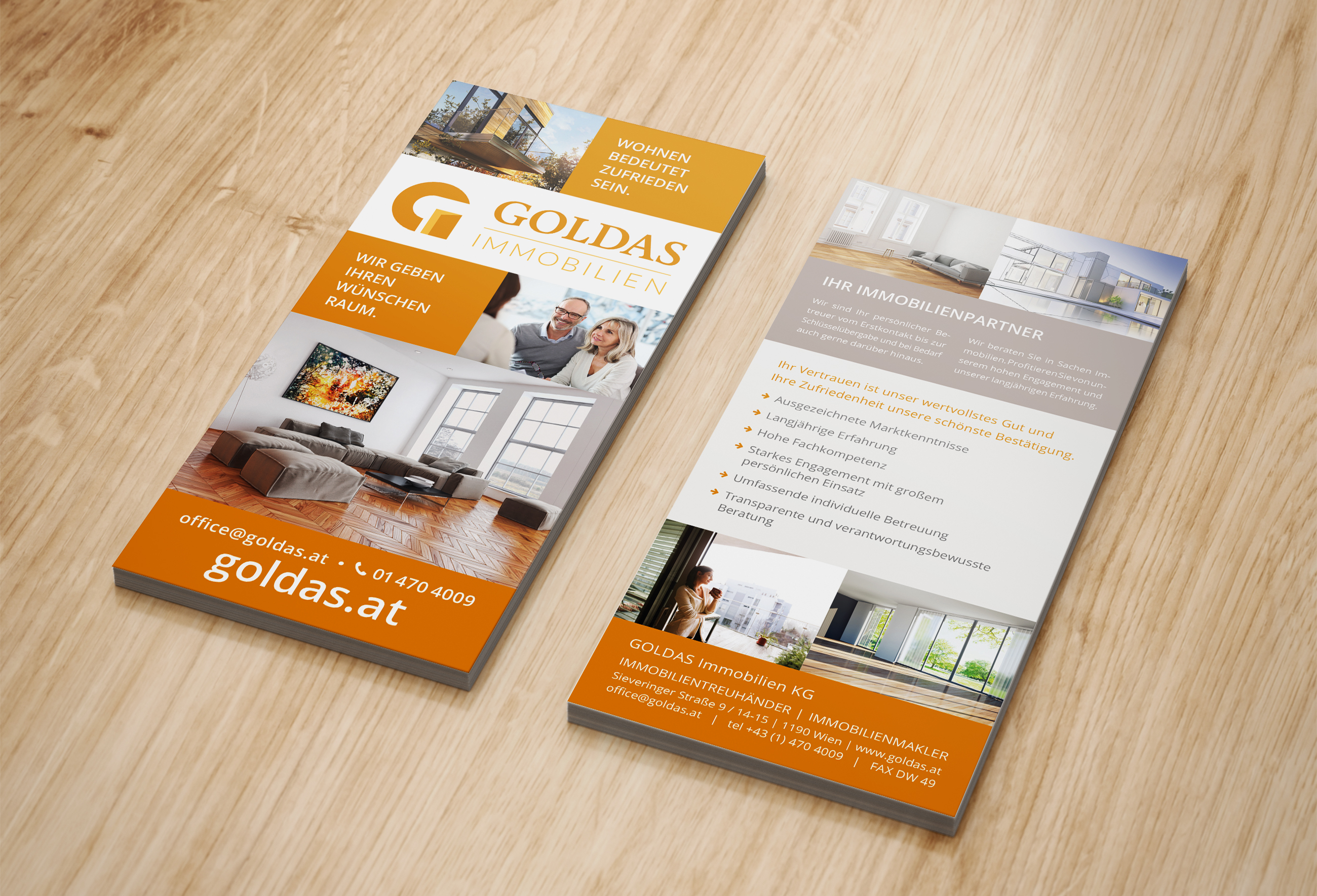 goldas flyer design | grafik wien umgebung