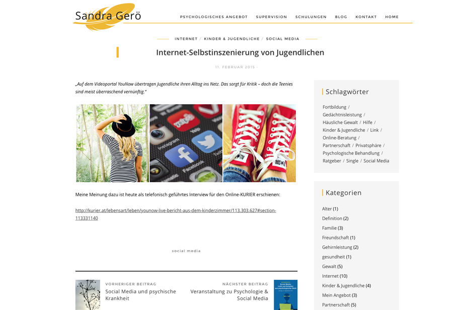 Mag. Sandra Gerö, MA, Website Redesign