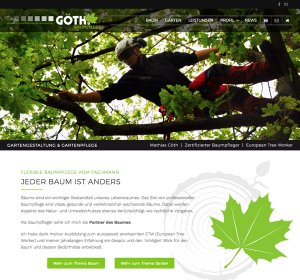 Göth Baumpflege | WordPress Webdesign