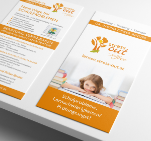 stress-out Kinder Flyer | Grafikgesign & Webdesign Ärzte, Psychologen, Therapeuten